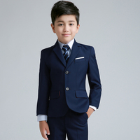 2018 winter boys wedding costume formal blazer suits england style boys prom vest blazer suit children clothing set