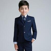 2018 winter boys wedding costume formal blazer suits england style boys prom vest blazer suit children clothing set
