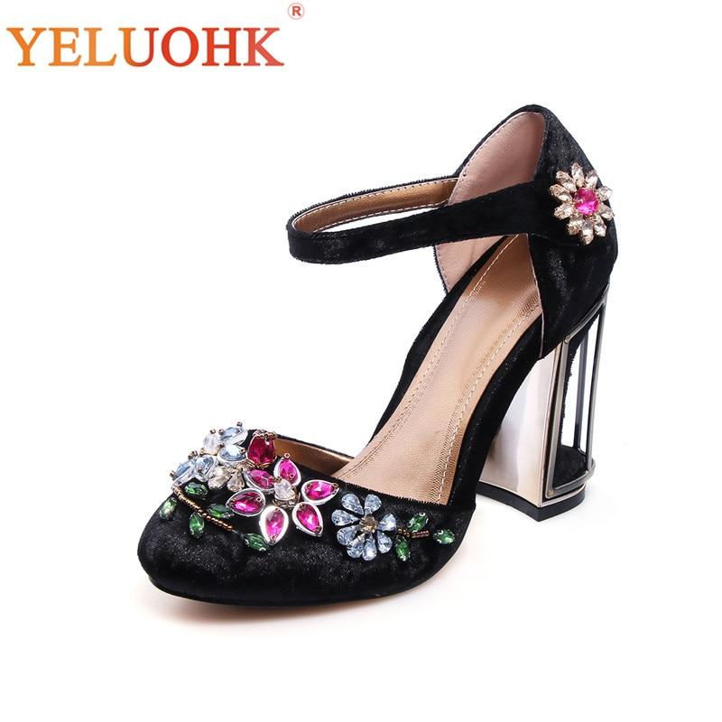 34-43 Extreme High Heels Big Size Crystal Sexy Shoes Women Heels High Quality Women Shoes Heels women high heels big