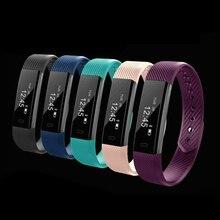 OGEDA спортивные Смарт-часы Для мужчин женщина Фитнес трекер браслет счетчик шагов активности Будильник Bluetooth наручные часы 115 Часы