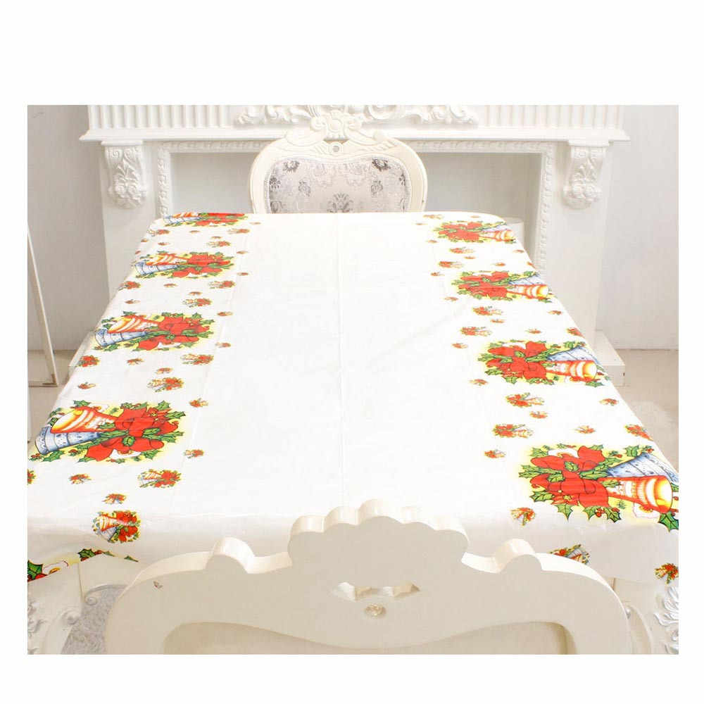 110*180cm PVC Disposabl שולחן בד עבור החג שמח מפת Rectangule מודפס קריקטורה חתונה מפת שולחן כיסוי