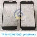 Tomoral Черная передняя экран ТП для YD206 YD201 yotaphone2 yotaphone 2 Сенсорный Экран стекла, только сенсорный Крышка стекла