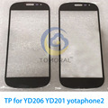 Tomoral Black front screen TP for YD206 YD201 yotaphone2 yotaphone 2 Touch Screen glass, only touch Cover glass
