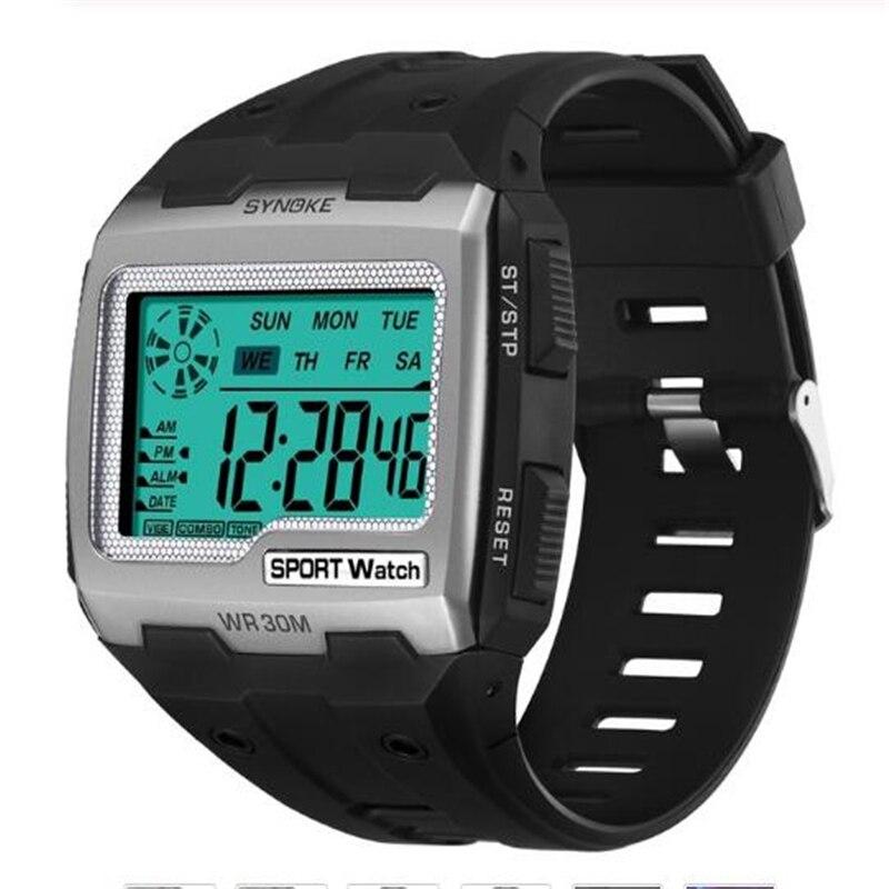 PANARS 2019 New Men Women Digital Watches Big Square Dial Alarm Week Resistant Chronograph Multi-function Digital Sport Watch