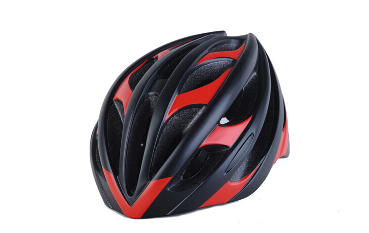 ZH52 GOXING black Cycling helmet for Adults Black Red Outdoor MTB helmet size 56 62cm 246g