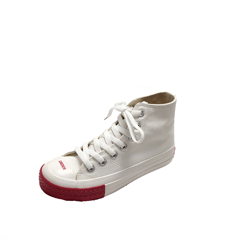 High-top canvas shoes female wild 2019 spring new small white shoes 25