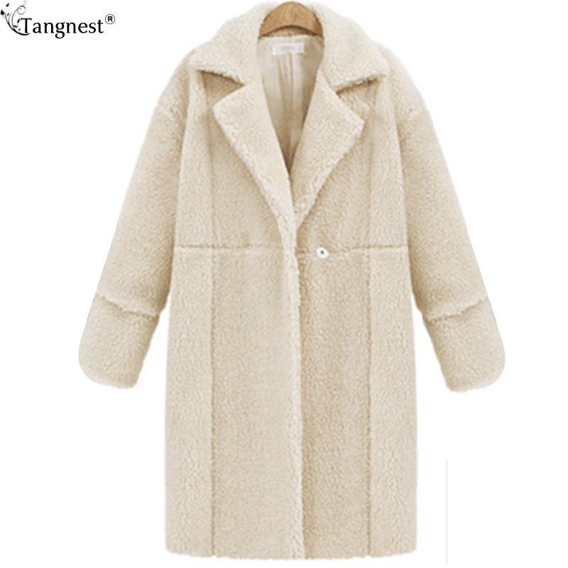 TANGNEST Thick Faux Fur Coat For Women 2017 Fashion Long ...