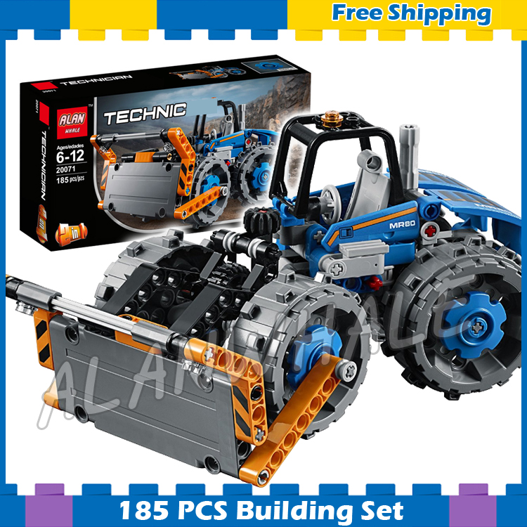185pcs 2in1 Techinic Advanced Dozer Compactor Articulated Truck 20071 DIY Model Building Blocks Gifts Sets Compatible With lego 760pcs techinic 2in1 new series