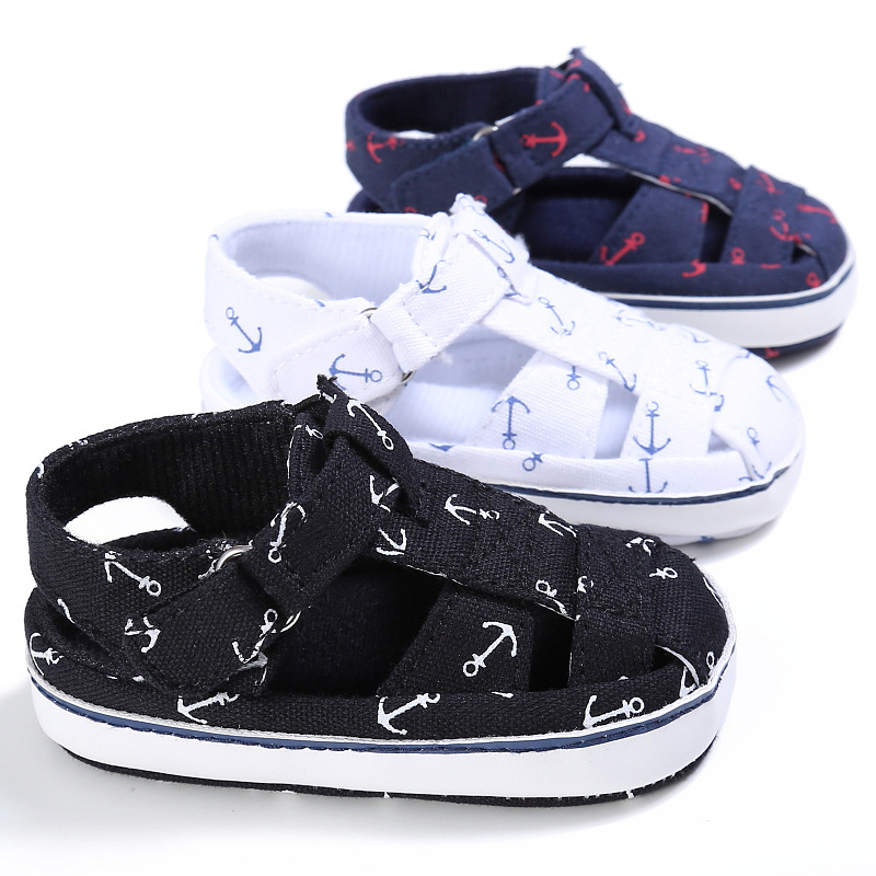 2019 Summer Style Fashion Anchor Baby Boys Shoes Infant Toddler Shoes Soft Sole Indoor Climb Shoes