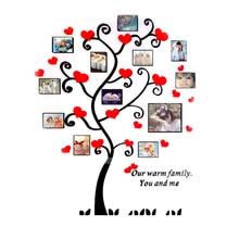 الأصالة غرفة المعيشة الاكريليك مرآة الجدار ملصق الحب شجرة ثلاثية الأبعاد ملصقات جدار الصورة غرفة نوم التلفزيون حائط الخلفية ديكور فني