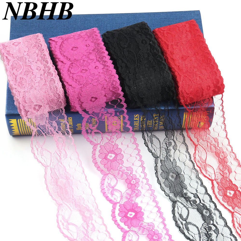 Buy 2 Get 1 Free Dusky Pink Lace Trim 55mm Wide Flower And Scalloped Edge
