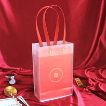 Transparent Gift Bag Wedding Favors Box Candy Packaging Plastic Bags With Handles Baby Shower Party Boxes