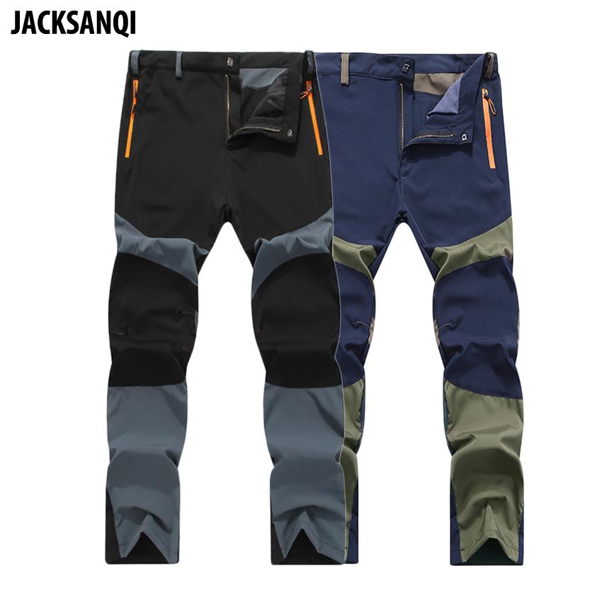 JACKSANQI Quick Dry Outdoor Summer Breathable Hiking Pants Men Mountain Climbing Trousers Camping Trekking Sport Pants 4XL RA003 dropshipping thin hiking pants men sports pants quick dry breathable outdoor trousers waterproof mountain trekking pant