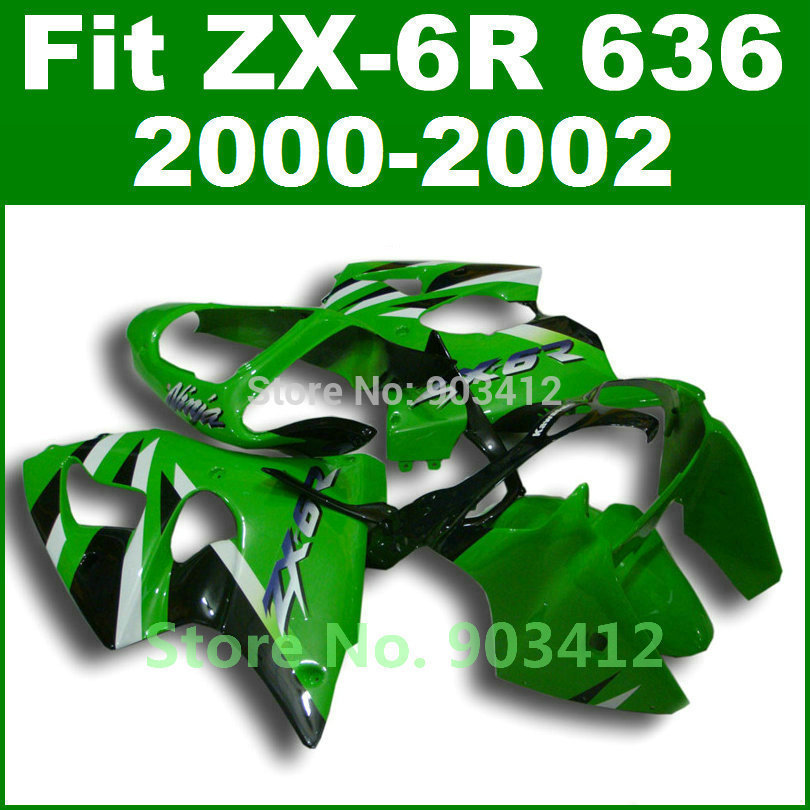Lime green body kits for Kawasaki ZX6R fairing 2000 2001 2002 00 01 02 Ninja ZX 6R 636 Fairings ZX636 G7N3 intimes intimes it 057 lime green