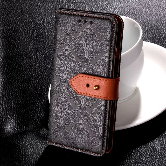 For Apple iPhone 7 Plus Luxury Leather Texture Wallet Card Flip Book Case For iPhone7Plus Folding Wallet Cover Man Bag Holster