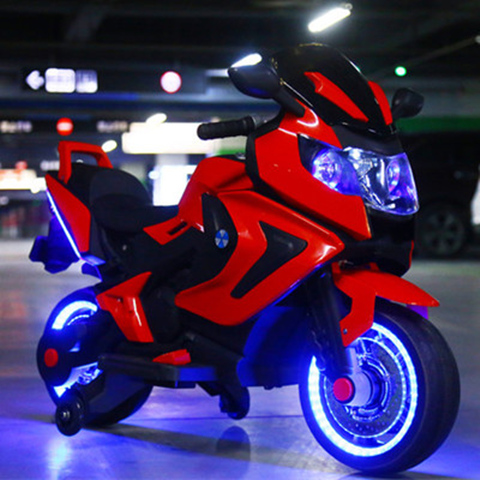 Childrens electric motorcycle baby tricycle large 1 to 12 year-old child charged bottle toys can take people kidss gift