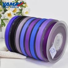 YAMA 3/16 inch 5mm 250yards/lot Blue Purple Series Wholesale Grosgrain Ribbon for Diy Dress Accessory House Wedding Decoration