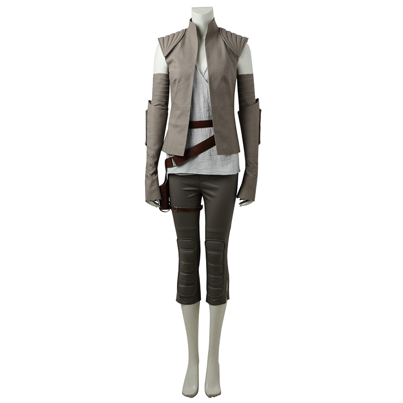 Hot Star Wars VIII: The Last Jedi Cosplay Rey Costumes Carnival Gray Full Sets Halloween Christmas Party Costume Custom Made