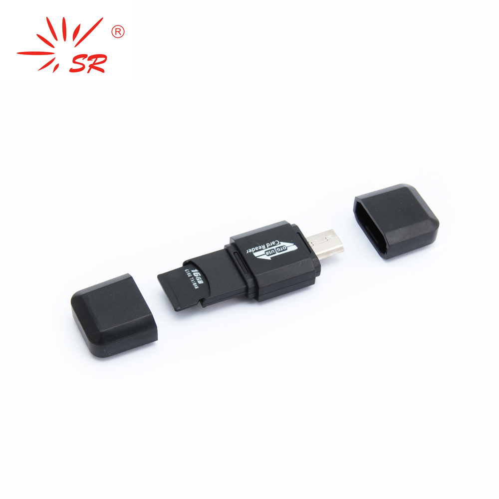 SR Diamond Style Micro SD Card Reader USB 2.0 Flash Lector Memory OTG Adapter Drive for PC Laptop Accessories and SmartPhone