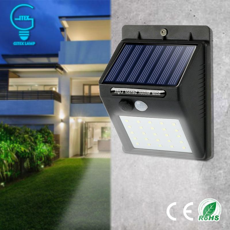 Wasserdicht Solar Lampe PIR Motion Sensor Wand Licht Outdoor Solar Licht Energie Saving Street Yard Pfad Home Garten Sicherheit Lampe