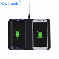 Ouhaobin Wireless Charger Universal 2 Phones Qi Wireless Charging Pad For IPhone X 8 8 Plus
