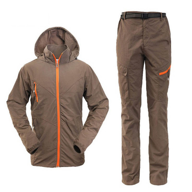 Mens Quick Dry Anti-uv Sunscreen Jacket Pants Lightweight Fishing Clothes Outdoor Hiking Camping Sets Men Climbing Cycling Suits 3