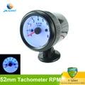 2 дюймов 52 мм универсальный Тахометр Для Автомобиля Тахометр Синий Цвет ЖК rpm meter Датчики Гонки Черный Тахометр rpm Автоматический Измерительный Прибор метр