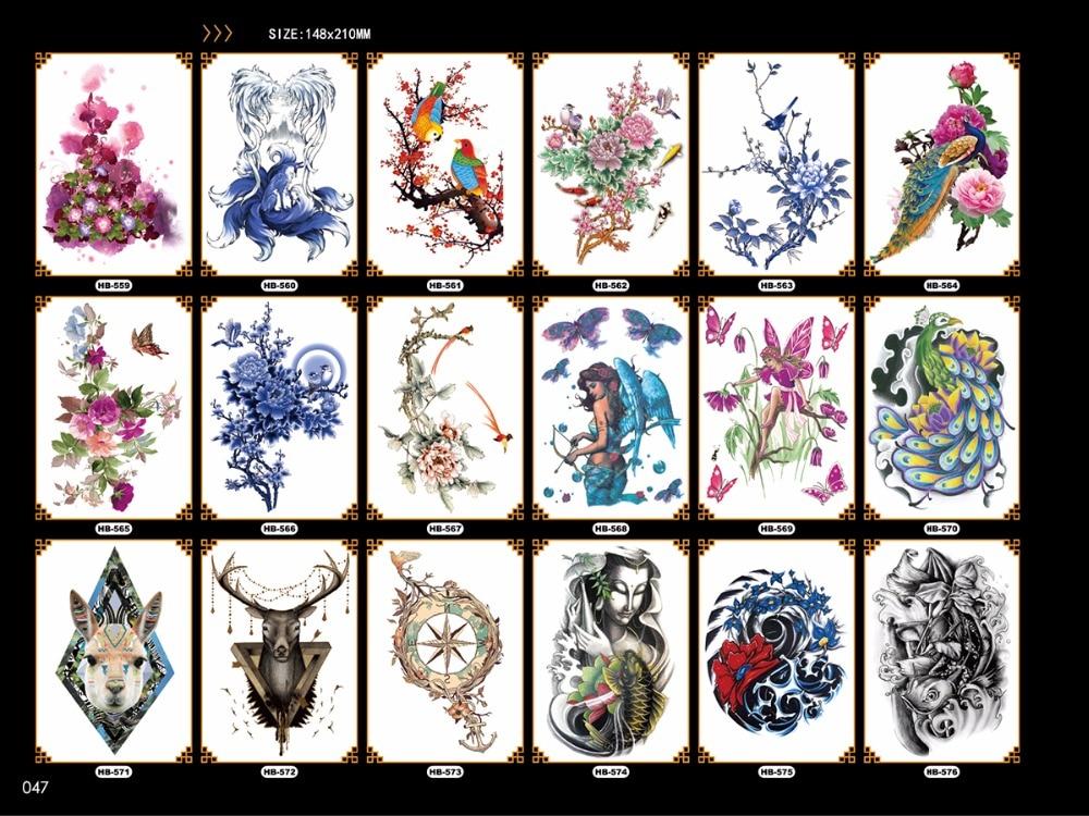 148 * 21 cm tatuajes temporales para hombres mujeres brazo tatuaje - Tatuaje y arte corporal - foto 5