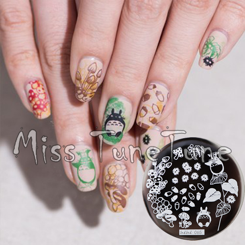 New Stamping Plate hehe65 Animation Totoro Cartoon Forest Chestnut Mushroom Nail Art Stamp Template Image Transfer Stamp