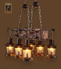 Goede abajour Factory Outlet Retro Industrial Pendant Lamp 3 6 head Old LI-26