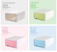 Plastic Storage Bins Drawers Transparent Plastic Shoe Box Single Modular Drawers Drawer Storage Box Desktop Storage Lockers