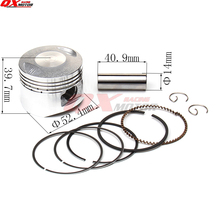 LF125cc Engine Piston kit 52.4mm Piston 14mm Pin Piston Ring Set for LIFAN 125cc Engines Chinese Pit Dirt Bike ATV Quads