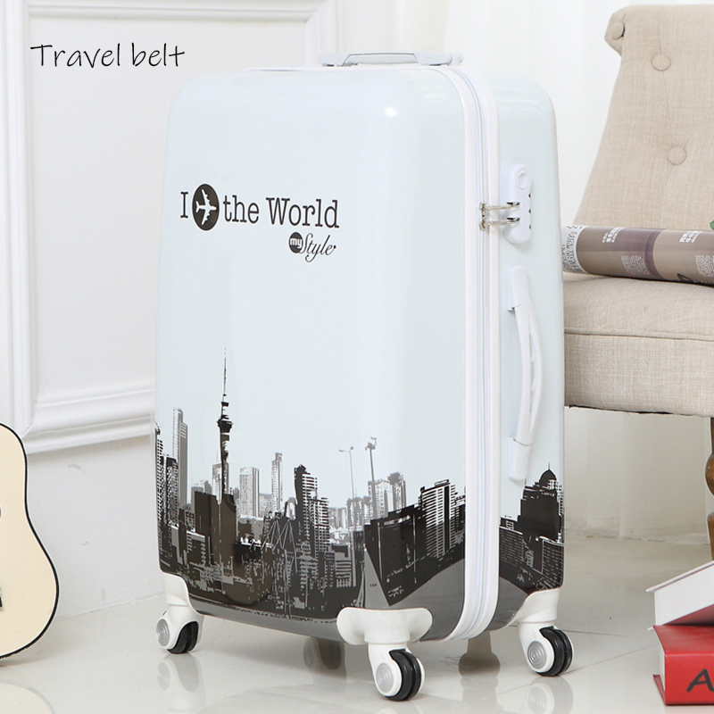 Travel Belt Fashion Women Retro butterfly 20/24/26 inch Rolling Luggage Spinner Men Travel Bags Suitcase Wheels Travel Belt Fashion Women Retro butterfly 20/24/26 inch Rolling Luggage Spinner Men Travel Bags Suitcase Wheels