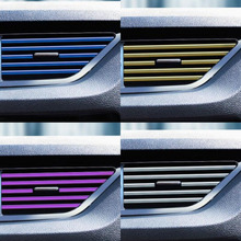 CDCOTN 10PCS Car Air Conditioning Outlet Electroplating Decorative Strip Clip Modified Trim Interior Accessori