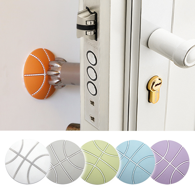 Basketball Wall Thickening Mute Door Decoration Rubber Fender The Handle Door Lock Protective Pad Protection Wall Sticker