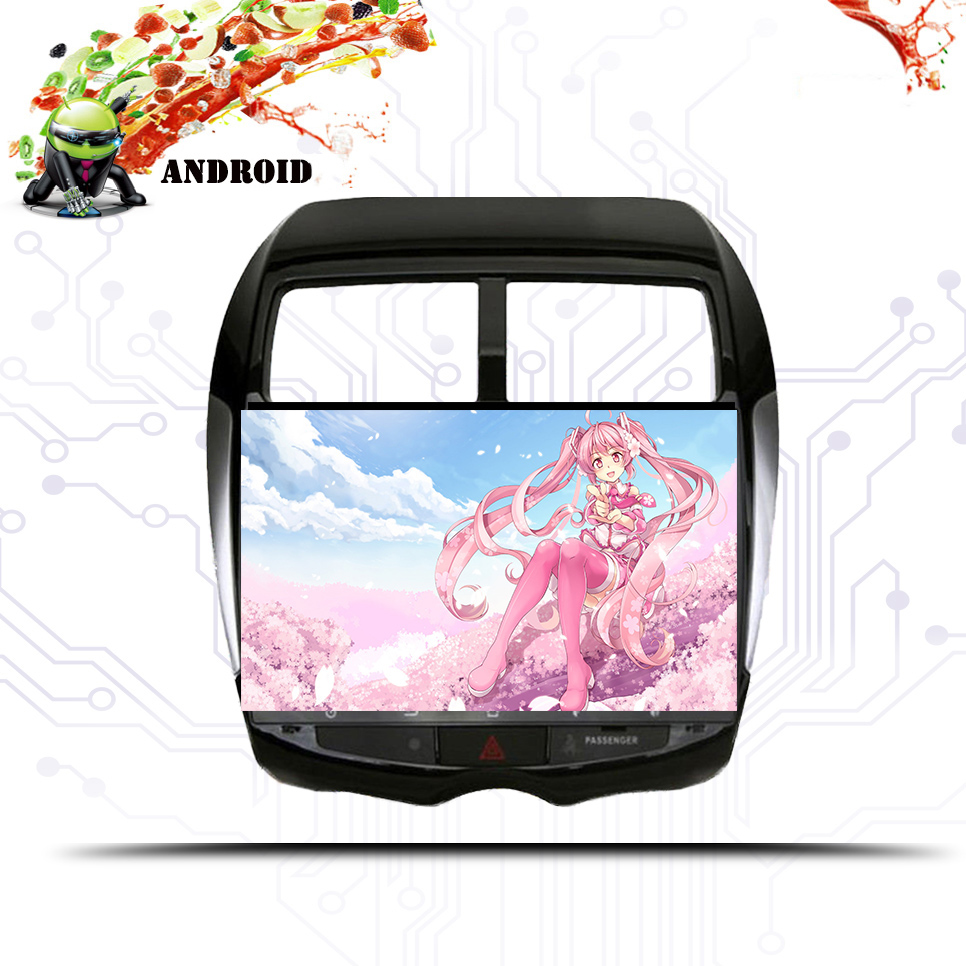 Android 9.1 Car Multimedia DVD player GPS navigation for <font><b>MITSUBISHI</b></font> ASX RVR <font><b>Outlander</b></font> Sport 2010-2014 tape recorder Audio Video image