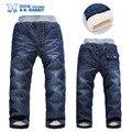 Alta qualidade de inverno de espessura cashmere quente crianças calças do bebê Meninos calças jeans crianças das crianças