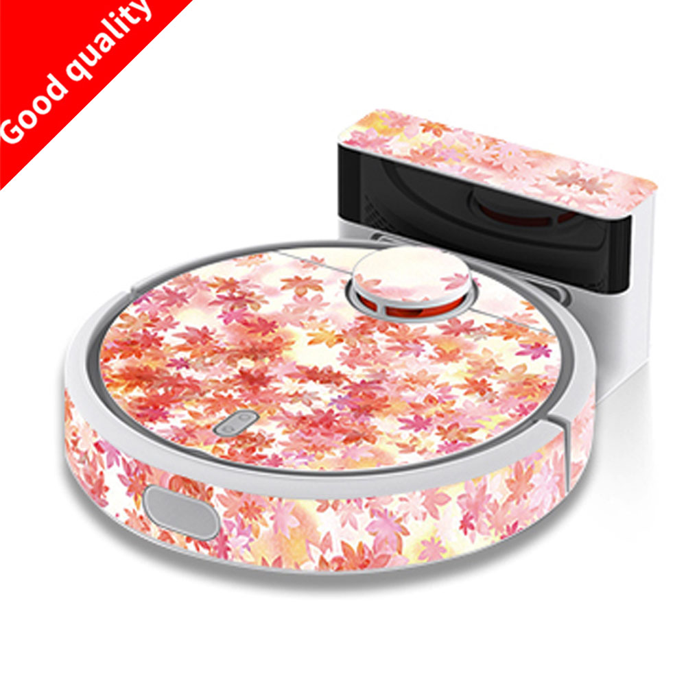 1pc stickers Beautifying Protective Film for XIAOMI MI Robot Vacuum Cleaner, 3 models for choose Various styles Lovely stickers mi learning styles