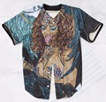 Real USA Size Custom made Fashion 3D Sublimation Print rihanna in barbados Baseball Jersey plus size