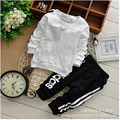 2017 new children clothing set baby boy spring&autumn casual letter abidas top+pants twinset sport set for kids 0-4Y