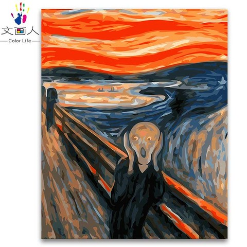 Propileno Colorindo Por Numeros Pintura Por Numeros De Edvard Munch O