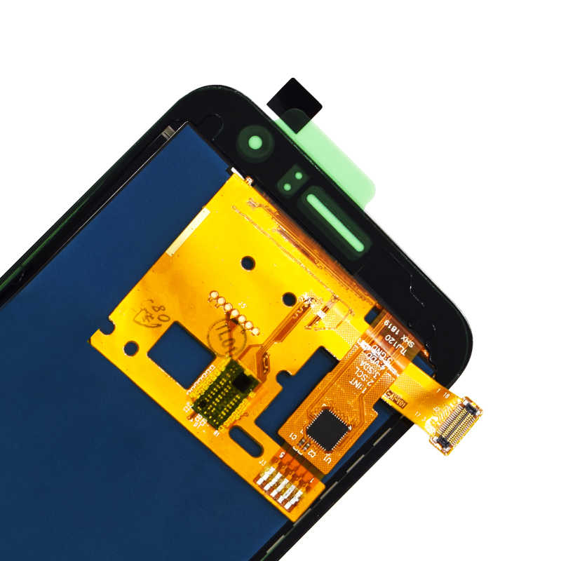 يمكن ضبط سطوع شاشات lcd لسامسونج غالاكسي J1 2016 J120 J120F J120H J120M شاشة الكريستال السائل مجموعة المحولات الرقمية لشاشة تعمل بلمس