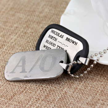 A/O Dog Tags Men's Pendants Necklaces 1