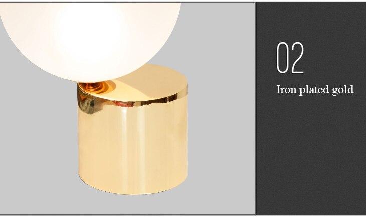 Livewin moderne tafellamp luxe bureaulamp gold globe bedlampje