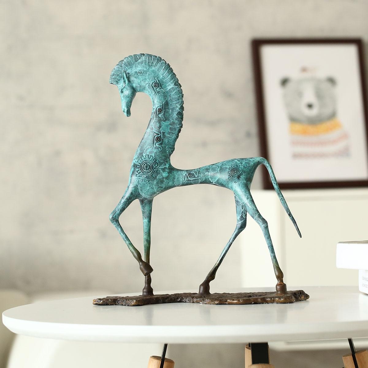 Ägypten Pferd Dekoration Brozne Skulptur Kupfer Pferd Dekoration Skulptur  Für Wohnzimmer Dekoration Kunsthandwerk
