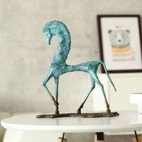 Египетская лошадь домашнее украшение Brozne скульптура медная лошадь украшение скульптура для гостиной домашнее украшение искусство ремесла