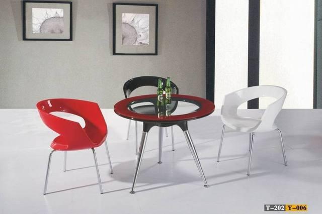 Vidrio especial de acero mesa de comedor mesa redonda del volante ...