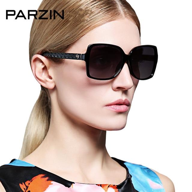 fe7fda52f02 Parzin Oversized Sunglasses Women Female Polarized Sunglasses Black Elegant  Shades Driver Driving Glasses With Case 9515