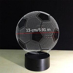 Image 5 - Oprawa oświetleniowa 3d piłka nożna LED lampka nocna pilot RGB 7 zmiana kolorów kryty lampka nocna lampa iluzoryczna