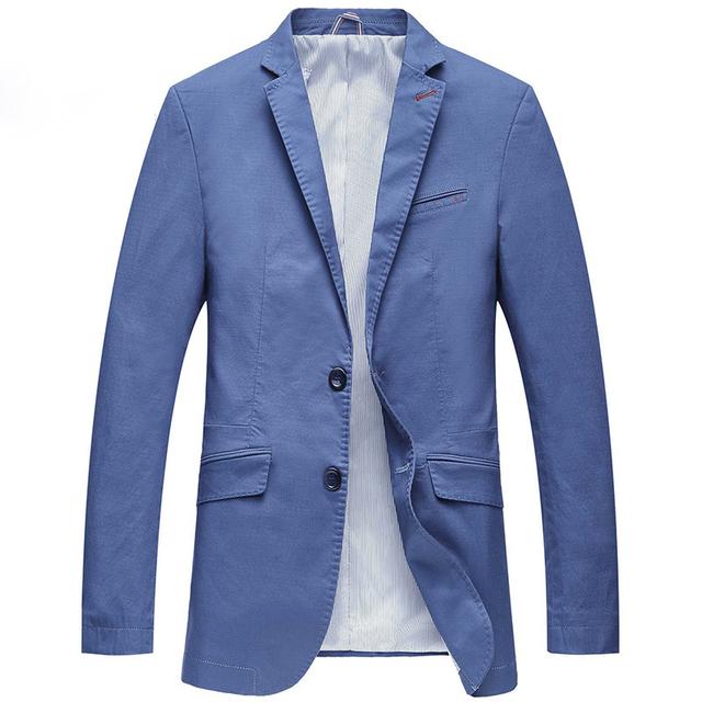 Chaqueta de Los Hombres Slim Fit Terno masculino Estrenar Casual Blazer Masculino Sólido Parka Chaquetas de Traje de Vestir de Los Hombres Azules de Gran Tamaño 4XL